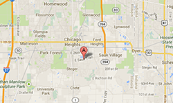 Map of Sauk Village Fairway Finer Foods at 1 Sauk Plaza  Sauk Village, IL 60411